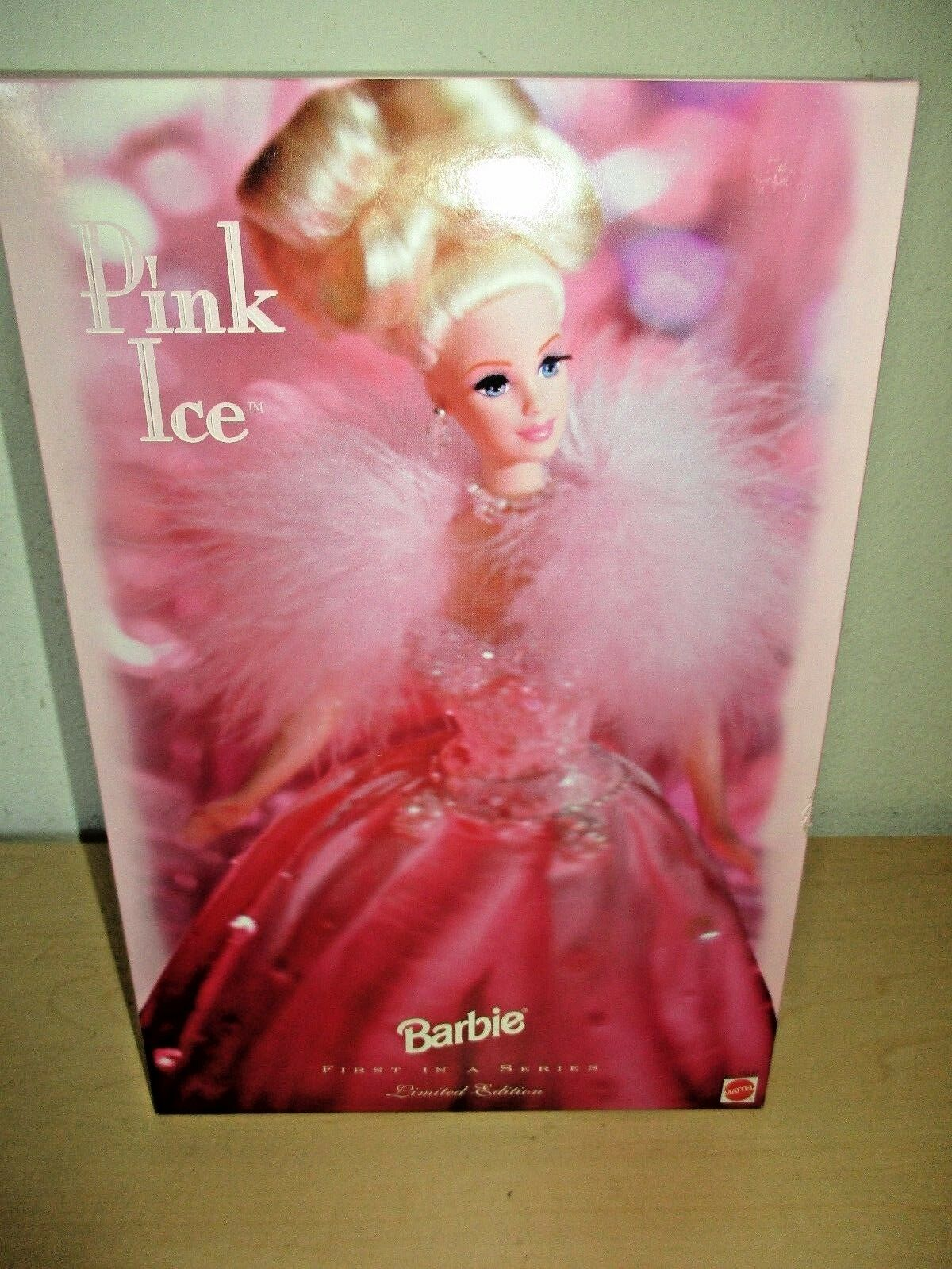 1996 BARBIE 1ST IN A SERIES LIMITED EDITION PINK ICE BY MATTEL. NIB.
