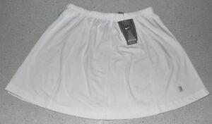 "Tennis Skirt ""NIKE Dri-Fit"" Elastic Waist w/ Drawstring (White) Med or Large"