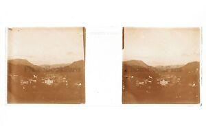 Francia Ville A Identificare Placca Da Lente Stereo Positivo Vintage Ca 1910