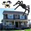 Spider-Halloween-Decoration-Haunted-House-Prop-Indoor-Outdoor-Black-Giant thumbnail 6