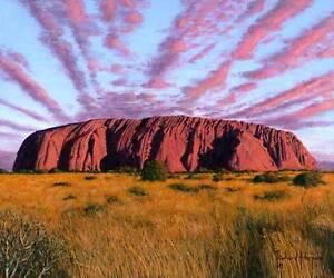 ORIGINAL-RICHARD-HARPUM-Uluru-Sunset-Ayers-Rock-Central-Australia-PAINTING