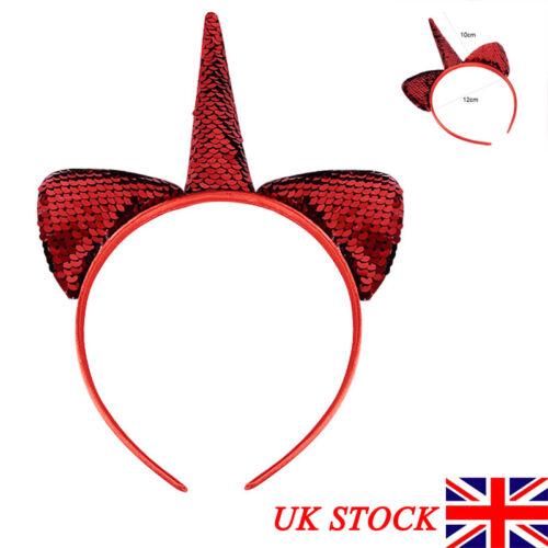 Christmas Magical Unicorn Horn Headband Kid Child Hair Hoopband Cosplay Headwear