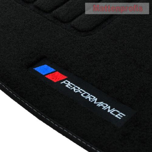 MP Velours Logo PB Performance Fußmatten für BMW 1er E81 3-türig ab Bj.09//2004