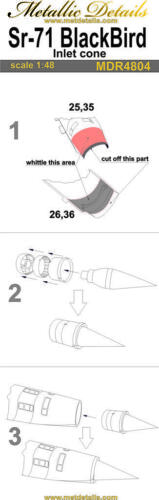 Inlet cone Metallic Details MDR4804-1//48 SR-71 Blackbird Testors//Italeri