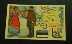 Vintage-Cigarettes-Card-ESTONIA-REGIONS-OF-THE-WORLD-COLLECTION