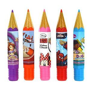 Disney Marvel Character Giant Novelty Pencil Case Tube Pencils School Stationary