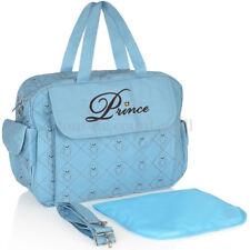 Baby Mummy Baby Nappy Handbag Changing Bag Mat Shoulder Prince Boy Girl Diaper Bag UK