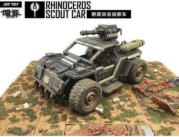 JOY TOY   the 3rd generation Rhinoceros Scout Car 1 27 (A) Figure New