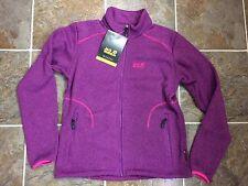 NWT JACK WOLFSKIN Caribou Asylum Fleece Women's Jacket Size Large Purple