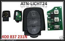 AUDI A3 A4 A6 A8 TT RS4 Neu Klappschlüssel Funk Sendeeinheit 3 Tasten 4D0837231N