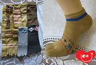 4 X Women  Five Toe Sport Cotton Low cut  Ankle  Socks With Heel
