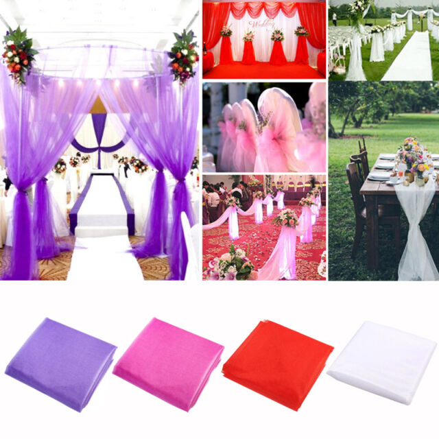 75cm*10M Top Table Chair Swags Sheer Organza Fabric Wedding-Party-Decor AUA