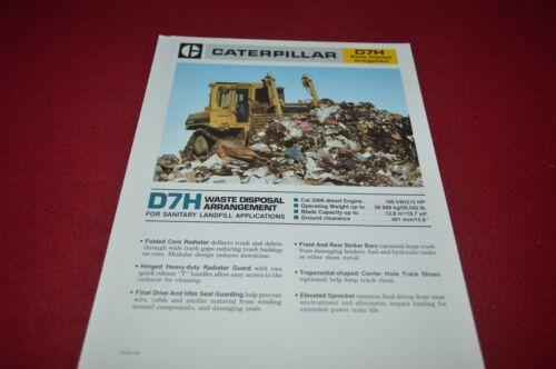 Caterpillar D7H Crawler Tractor Dozer Waste Disposal Dealer/'s Brochure DCPA6