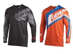 2018-Leatt-GPX-4-5-Jersey-Adult-Motocross-Dirt-Bike-Racing-Off-Road-Black-Orange