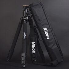 "Genuine Nikon D-SLR SLR RF Mirrorless Camera Tripod 63"" w/Ball Head, Plate, Case"