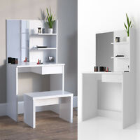 dressing table make-up dressing table with mirror vanity commode White