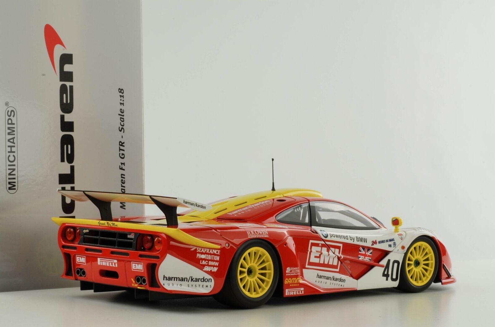 McLaren F1 GTR BMW EMI Gulf Le Mans 1998 Sugden Auberlen Rourke1 18 Minichamps  | Erste Klasse in seiner Klasse