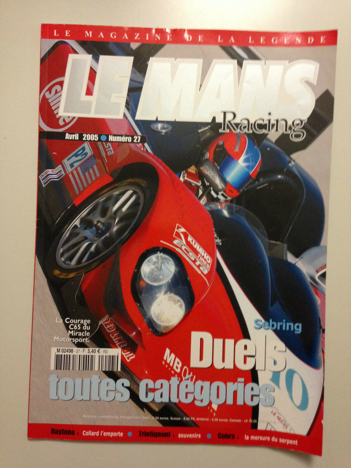 LE MANS RACING N°27 2005 2005 2005 SEBRING DUELS TOUTES CATEGORIES b12956