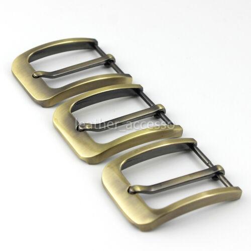 1x 35mm Brushed Metal Buckle Men/'s S Single Pin Belt Half Buckle Heel bar Buckle