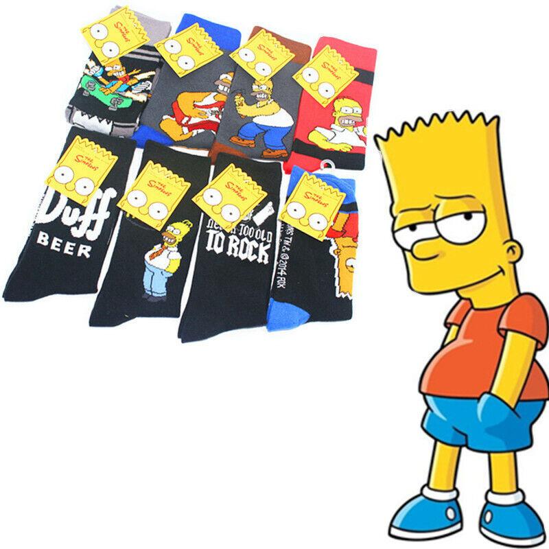 8 style Simpsons Socks Men Women Simpson Meias Men's Cartoon