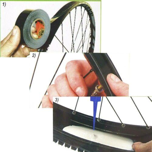 Trasformazione ruote gomme standard in tubeless tubless lattice Bici bicicletta