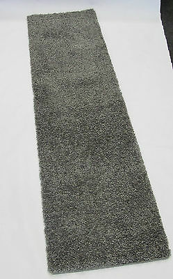 Long Silver Grey Superior Thick Shaggy Hairy Hallway Runner Rug Carpet 60 X 230