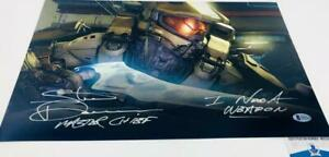 Steve-Downes-signed-Master-Chief-HALO-11x17-METALLIC-photo-BAS-M62100