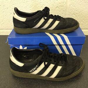 Adidas-Originals-Handball-Spezial-Black-amp-White-Gum-Sole-Trainers-UK-9-With-Box