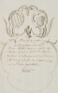 Revera-Wappen-Heraldik-Familienwappen-Grabstein-um-1700-Zeichnung