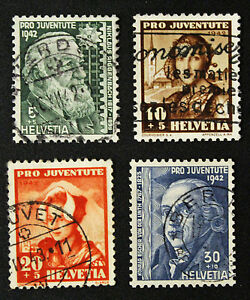 Stamp-Switzerland-Yvert-and-Tellier-N-380-IN-383-A-Obl-Cyn16