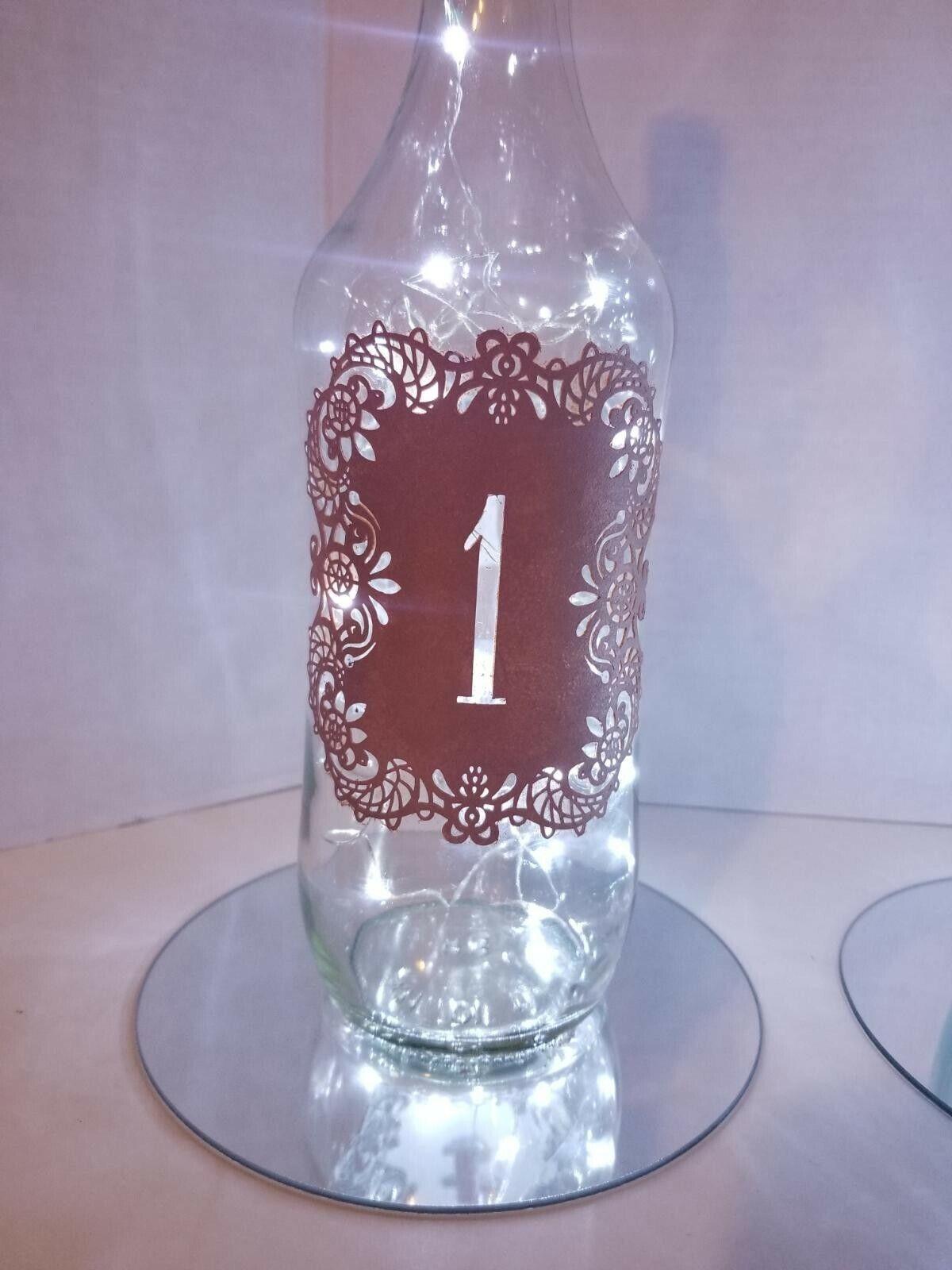 Bouteille Vin Décorations avec table numéro et liège lumières ensemble 10 pièces