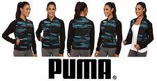PUMA Blurred Bomber Sweatshirt Jacket Coat Colonial Blue Women's Medium (M) NWT