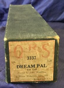 RP2719-Vtg-Q-R-S-QRS-Word-Roll-Player-Piano-Music-Roll-3337-Dream-Pal