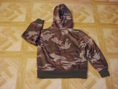 6-7 Small Faded Glory Boys Green Camouflage Sherpa Lined Fleece Hoodie 4-5 XS
