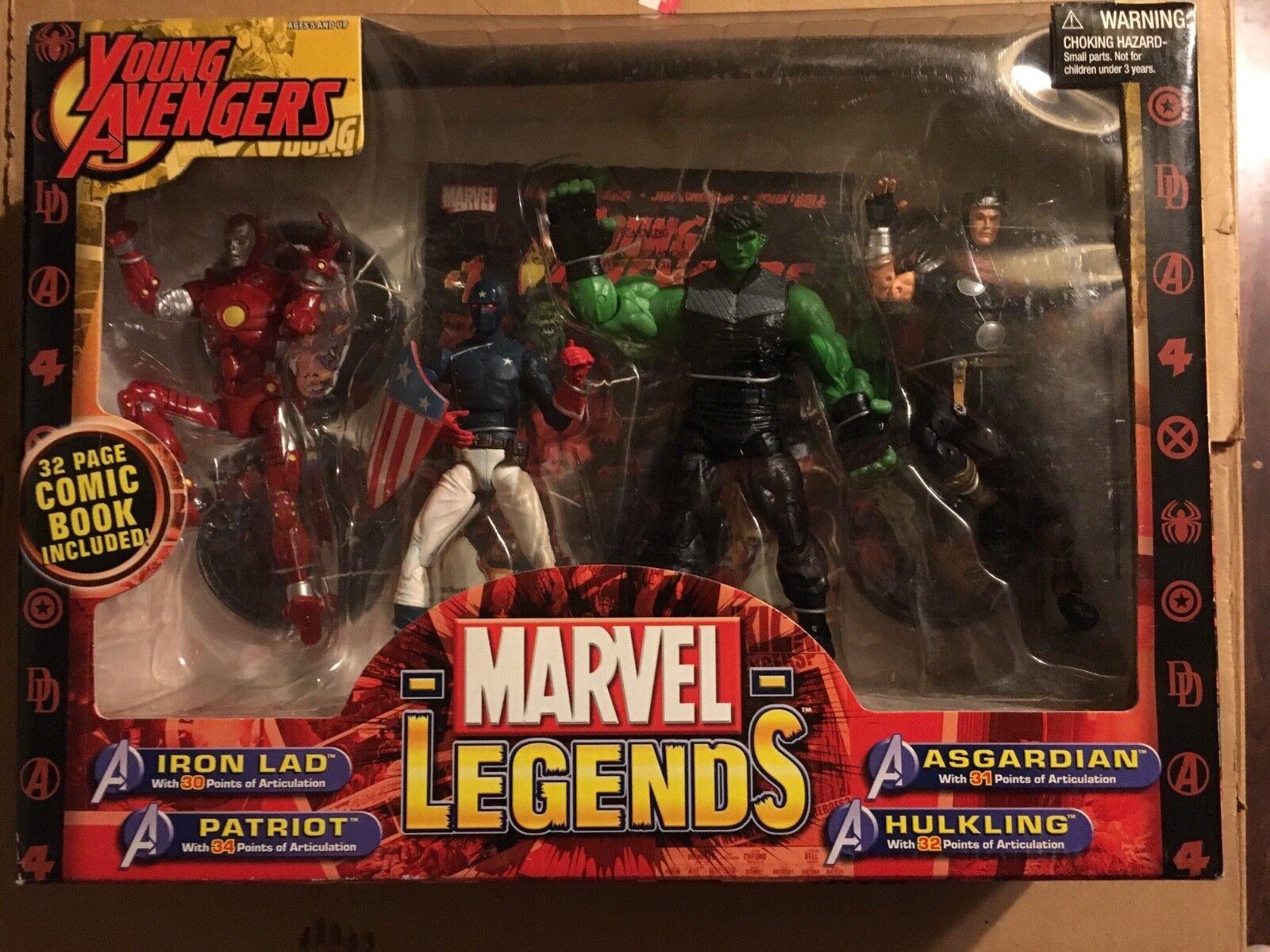Marvel Legends Young Avengers 6  Figures Iron Lad, Patriot, Asgardian, Hulkling