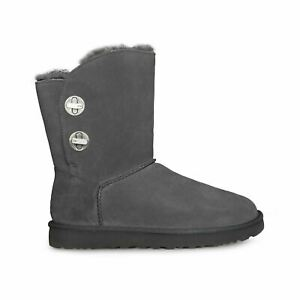 12860820648 Details about UGG SHORT TURNLOCK CHARCOAL SUEDE SHEEPSKIN FASHION WOMEN'S  BOOTS SIZE US 8 NEW
