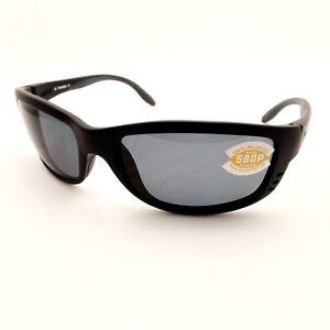 75328a7c9e8a8 Costa Del Mar Zane Black Gray 580P ZN11OGP New Authentic Sunglasses ...