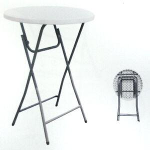 2 x cocktail tisch table 60 cm stehtisch biertisch 110. Black Bedroom Furniture Sets. Home Design Ideas
