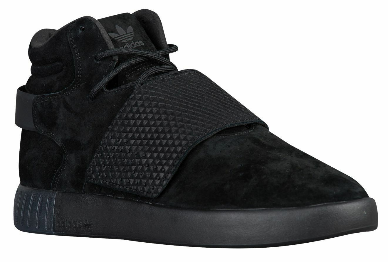 ADIDAS ORIGINALS TUBULAR INVADER STRAP TRIPLE BLACK Uomo 11 SNEAKERS BB1169