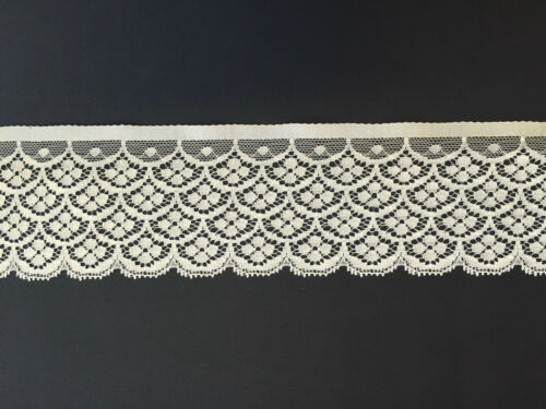Discounts available Guy Birkin Vintage Lace Selling per metre 70mm Polyester