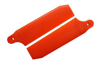 KBDD Neon Orange 96mm Extreme Tail Rotor Blades -Trex 600 Goblin 570 #4073