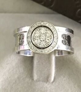 3c40b8e26 Image is loading GUCCI-18CT-WHITE-GOLD-ICON-TWIRL-DIAMOND-RING