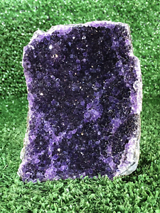 """4"""" Amethyst Cluster Geode Crystal Quartz Natural Stone QUAL. AAA"""