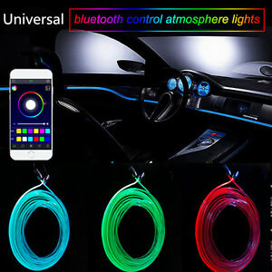 Rgb light led car interior neon strip light sound active bluetooth phone control 7698739700976 for Led strip lights for car interior