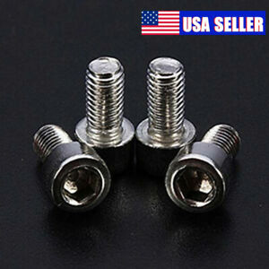 M5-Silver-Bolt-MTB-Bike-Water-Bottle-Cage-Cup-Holder-Screw-Stainless-Steel-Bolts