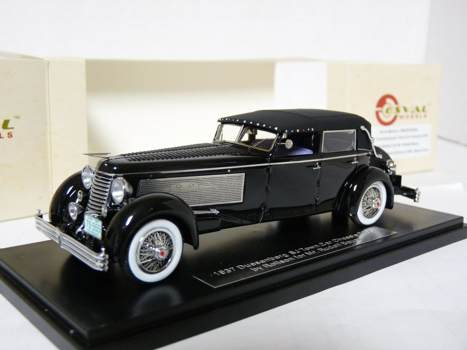 Esval EMUS43004A 1 43 1937 Duesenberg SJ Town Car Rollson Resin Model Car