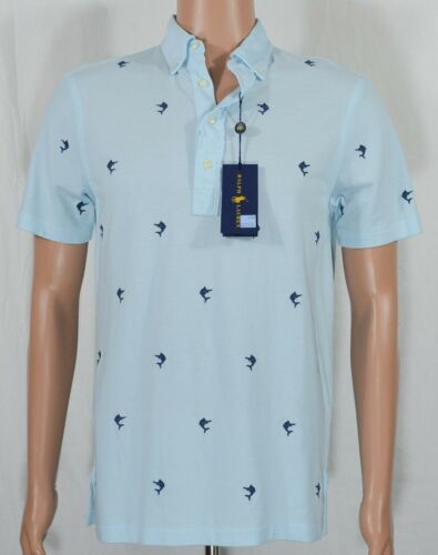Ralph Lauren #5752 NEW Men/'s Knit Oxford Embroidered Polo Shirt MSRP $98.50