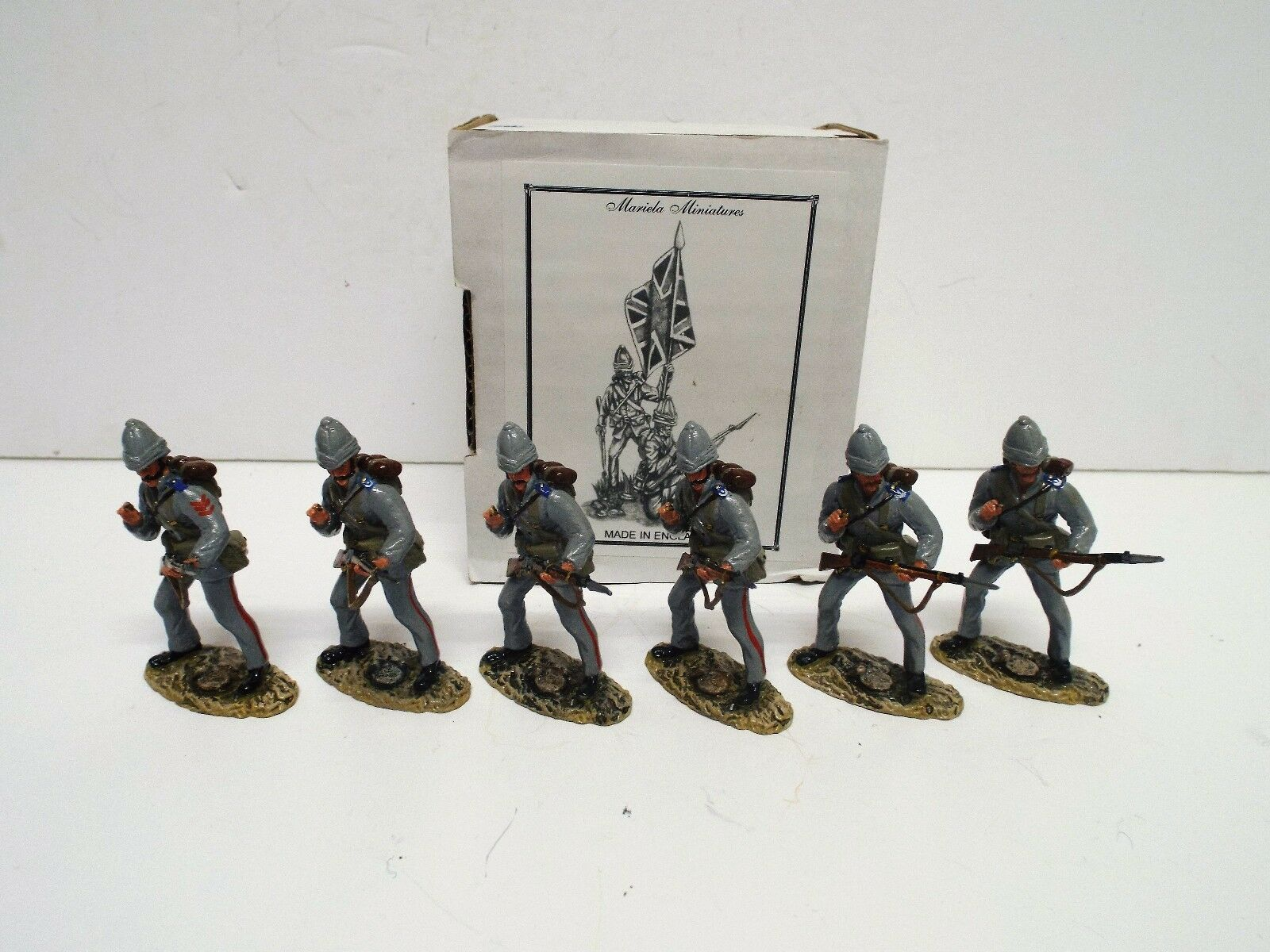 MARIELA MINIATURES 6 X 1884 ROYAL MARINES LIGHT INFANTRY SET BOXED. (BS2341)