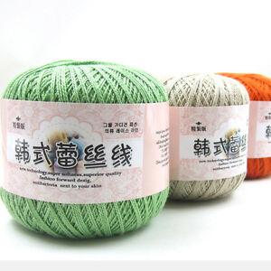 New-Sale-1-Skein-x-50g-Crochet-Cobweb-lace-yarn-100-cotton-making-Knitting-Yarn