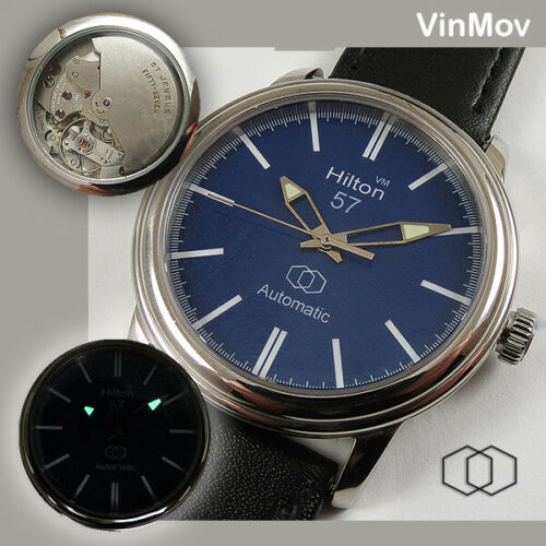 Hilton-Special-VIN-Automaton-movement-in-unique-new-Watch-gt-57-Jewels-lt-vinmov-D1